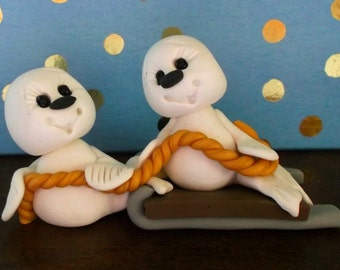 Sled Ride polymer clay seals