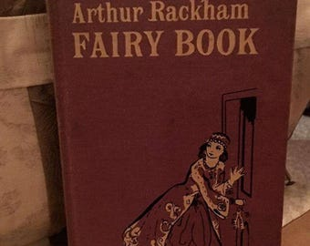 Vintage Childrens Book The Arthur Rackham Fairy Book --library ..Printed in Great Britain