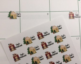 28 Dad's House Stickers, Fits Erin Condren Life Planner & Other Planners, Dad Weekend, Stickers