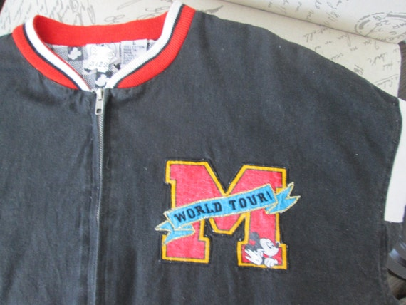 Sale Save 70.00 Mickey Mouse Jacket World Tour Jacket 1001 Hellos Tour 1992 Rare Jacket Has Been Stored--UNISEX Size Medium---DurhamDeals EvMZs2