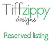 Reserved listing for Jeff L.