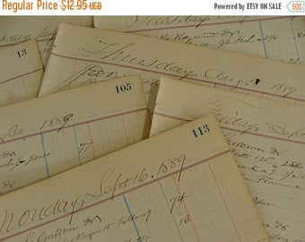 ONSALE Antique 1800s  Ledgers 125 years old