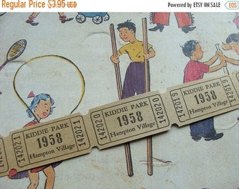 ON SALE Dozen Awesome 1958  Nostalgic Antique Tickets