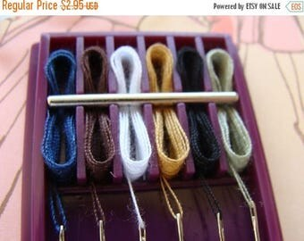 ON SALE Vintage Original and Unused Sewing Kit With 6 Threaded Needles and You will Need/Use Them