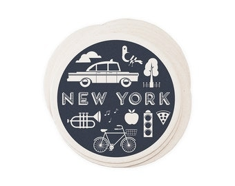 New York City - Letterpressed Paper Coasters