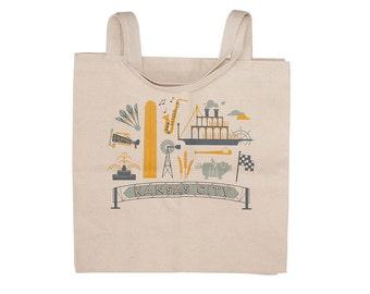 Kansas City Tote Bag - Shopping Bag Reusable Shoulder Bag