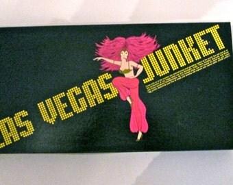 Vintage 1970's Game/Board Game/ Las Vegas Junket Board Game/Gambling Game/Man Cave