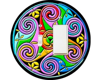 Celtic Triskel Toggle and Decora Rocker Switch Plate Cover