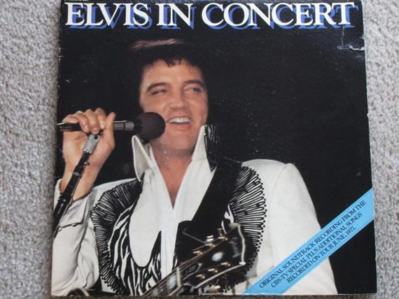 1977 Elvis Presley vinyl LP 2 record set Elvis In Concert RCA  alp2-2587 From CBS- tv Special w original liners