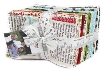 SUMMER SALE - Fat Eighths Bundle (37) Hometown Christmas - Sweetwater for Moda Fabric
