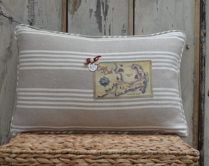 Cape Cod Tan Postcard Pillow  (available in 4 styles)