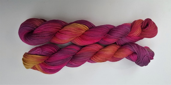 Indian Summer- 100 cotton Hand Dyed, Hand Painted, Variegated Yarn