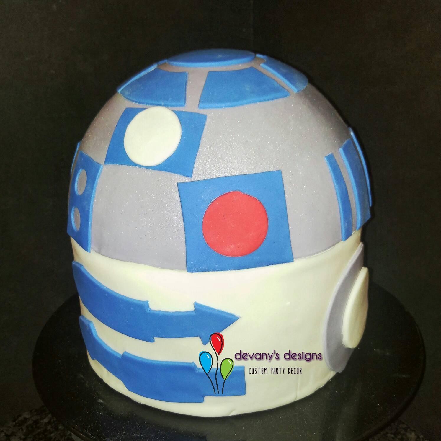 R2D2 Cake Topper R2D2 Birthday Cake Kit Edible R2D2 Star