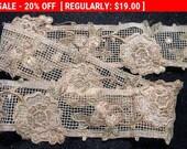 Antique Metallic Net Trim Edwardian Doll Bridal