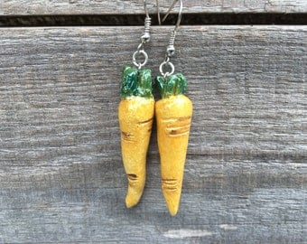 Little carrots earrings - stoneware  - Earrings