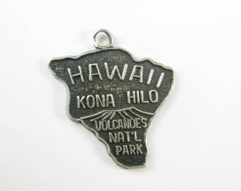 24 Vintage Sterling Silver Hawaii State Cut Out Charm