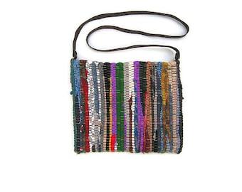 Bobo Messenger Kilim Bag. Crossbody Boho Purse. Over the Shoulder Bag. Womens Gift. Colorful Bag. Hippie Bag. Zippered Purse. Gypsy Bag