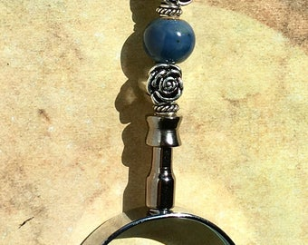 Magnifying Glass, Handheld Magnifying Reading Glass, Beaded Magnifying Glass, Magnifier