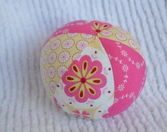 Cloth Jingle Ball with Japanese Floral Fabric