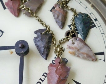 Arrowhead Necklace - Earthy jewelry - brass chain - One of a Kind bycat