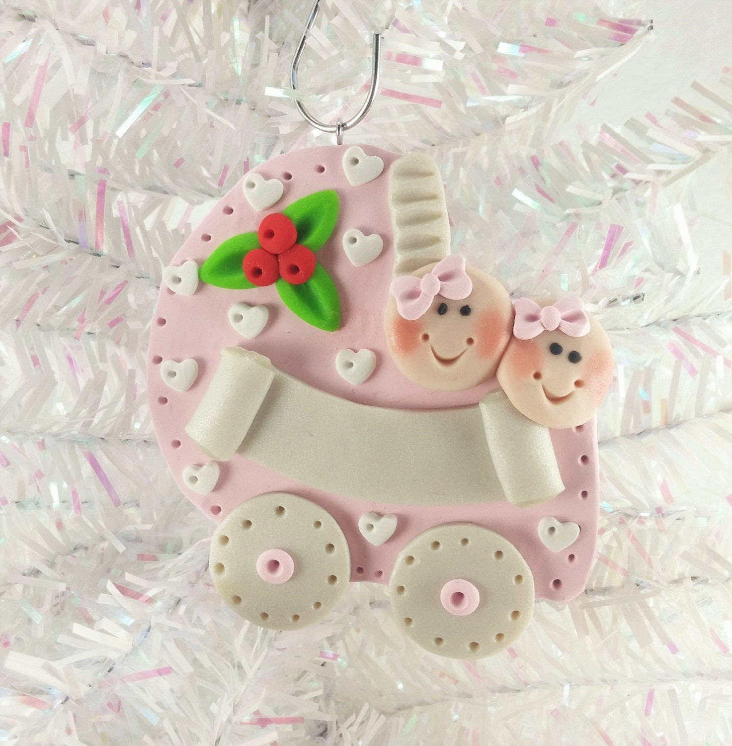 Personalized baby christmas ornaments - Baby Shower Gift Twin Girls Personalized Baby S First Christmas Ornament Twins First Christmas