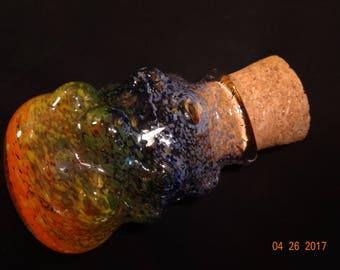 Large Fumed Rainbow Bubble jar