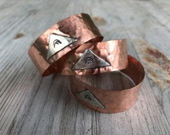 Mountainscape Copper Cuff Bracelet