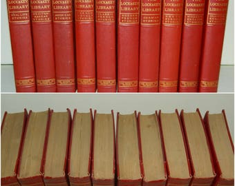 Antique Books 10 Volume Set Lock & Key Library New York 1919 Copyright 1909 Mystery Stories Detective Stories