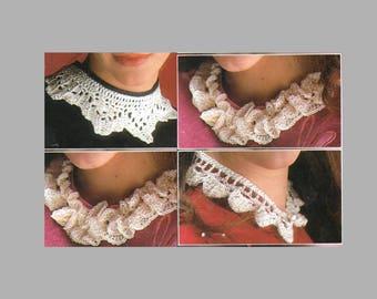 Pdf Crochet Pattern  / 1980's pattern / Crochet Collars/ 4 in 1 pattern / PDF Pattern / Instant Download PDF/ Post FREE Crochet Patterns