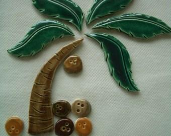 WIP - Smaller PALM TREE Set - Ceramic Mosaic Tile Set