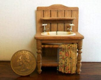 Tiny Half Scale Sink  1:24 scale