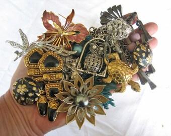 Vintage jewelry lot, Vintage 1960s jewelry, Vintage 1970s jewelry, Vintage 1980s jewelry, Destash jewelry lot, Vintage French jewelry