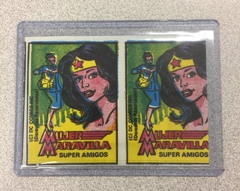 Rare 1976 Unopened Mujer Maravilla Super Amigos Super Friends DC Comics Card Pack