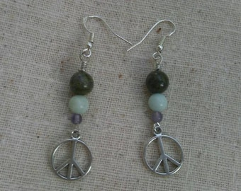 Peace Gemstone Earrings