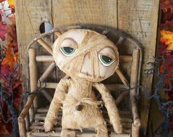 "PriMiTiVe Halloween Mummy Art Doll hafair faap ofg ""Mummy Dearest"""