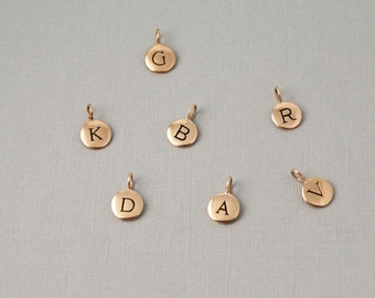 Add on Gold Initial charm