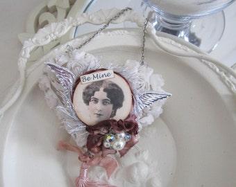 Valentine Heart Keepsake - Victorian Valentine Heart - Heart Ornament - Heart Decoration