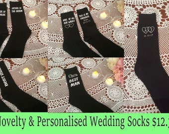 Groom socks-Groomsmen-novelty socks-personalized socks-father of the bride socks-father of the groom sock- peronalised wedding socks