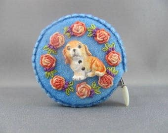 SOLD Hand Embroidered Tape Measure