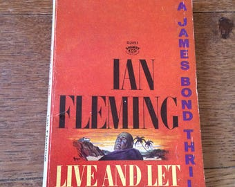 Mid Century Paperback Copy of Ian Flemings Live and Let Die - James Bond