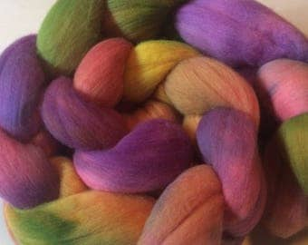 "19 Micron Fine Merino Combed Top ""Spring Hues"" Heavenly Soft and a Dream to Spin or Felt"