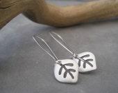 Silver Leaf Earrings - Modern Charm - Simple Elegance