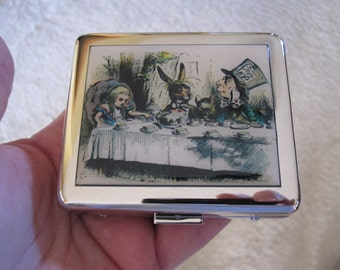 Alice In Wonderland Tea Party Pill Box