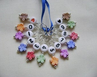 Floral Count Your Stitches Stitch Markers for Knitting or Crochet