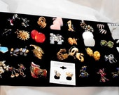 DESTASH  30 Pairs of Vintage Mixed Lot of Earrings, Pierced, Clip and Screwback