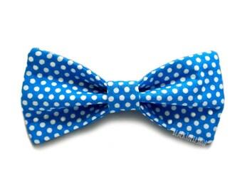 Blue Hair Bow Hair Clip Polka Dot Hair Accessories Girls Hair Bow Blue Polka Dot Cute Bows Teen Women Hair Accessories Sweet Lolita Bows