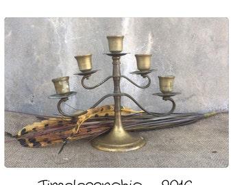 Vintage Menorah - Hanukkah Menorah - Brass Menorah - Jewish - Candelabrum - Sacred - Candelabra - Candle Holder - Brass Candelabra -
