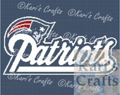New England Patriots Afghan PDF Pattern Graph + Written Instructions - Instant Download