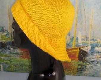 50% OFF SALE Instant Digital File pdf download knitting pattern only-Souwester Rain Hat pdf knitting pattern