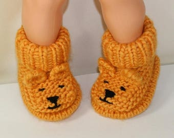 50% OFF SALE Instant Digital File pdf download Knitting pattern- Baby Teddy Bear Booties pdf download knitting pattern